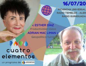 Cuatro Elementos del 16/07/2020 Geopolítica turca y la productividad tóxica