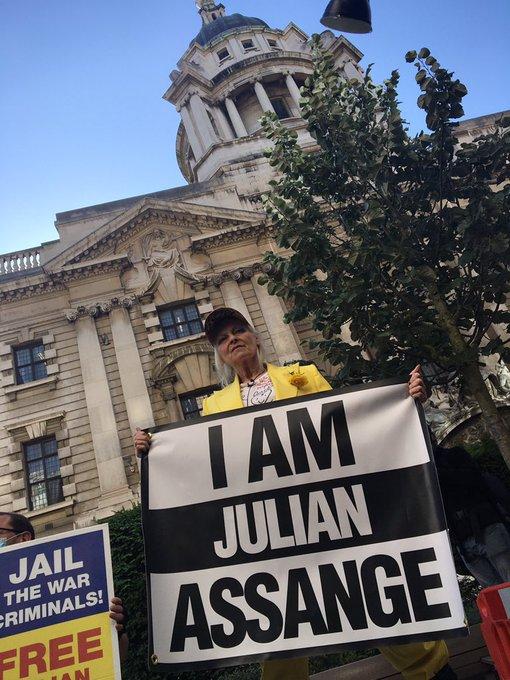 Vivienne Westwood im Käfig für Assange