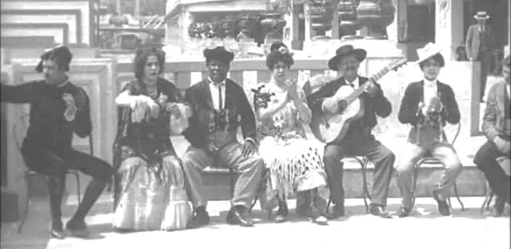 El negro Meric. Fotograma de la película Danse espagnole de La Feria Sevillanos. Hermanos Lumiêre. 1900