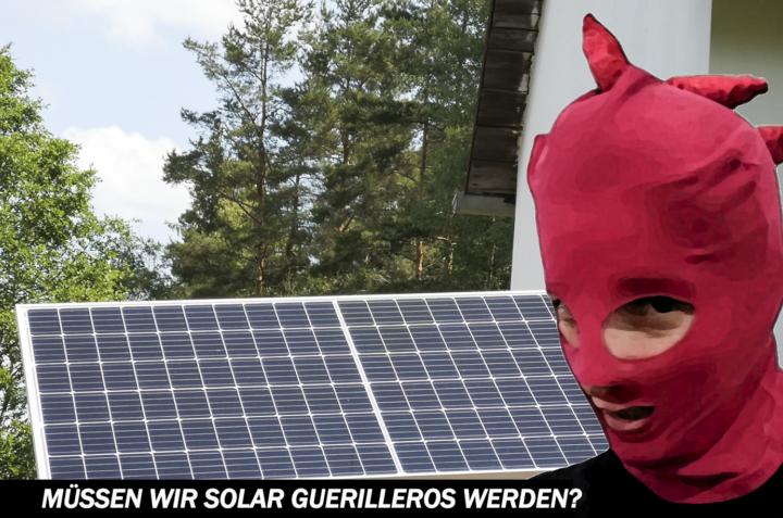 Frenar el cambio climático con un mini sistema solar: ¿tenemos que convertirnos en guerrilleros solares?
