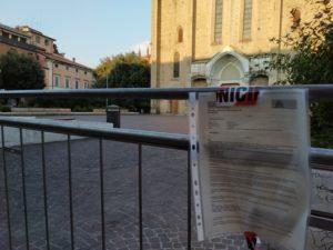 Pericolo assembramenti: a Bologna chiusa Piazza San Francesco.