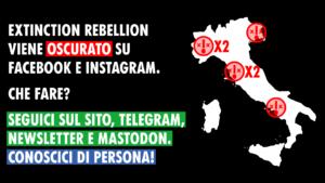 Facebook oscura le pagine di Extinction Rebellion