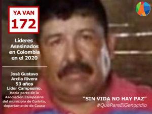 #QuePareElGenocidio: Asesinado líder campesino del Cauca