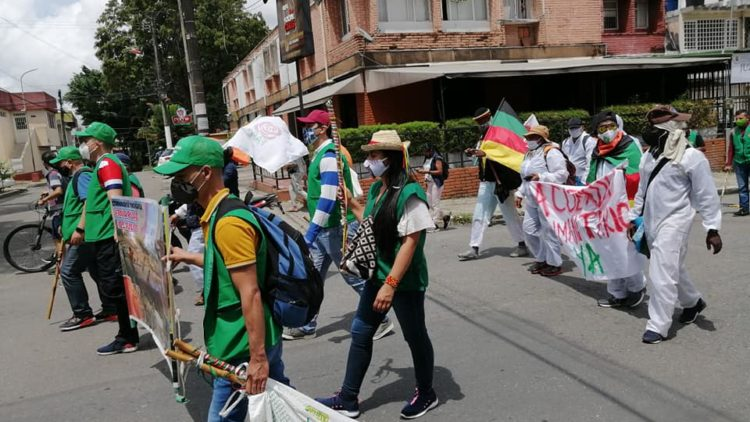 Avanza Marcha por la Dignidad en Colombia