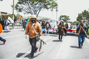 Marcha por la Dignidad llegó a Bogotá