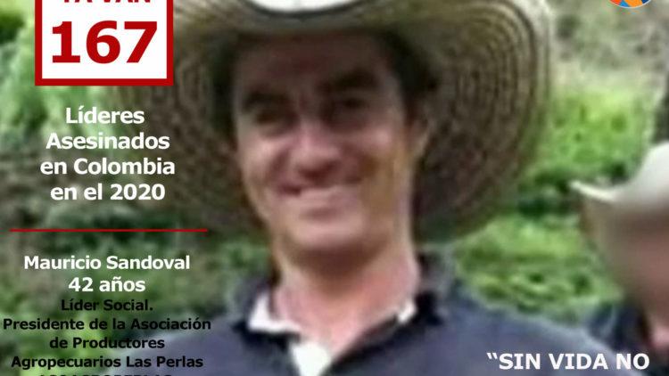 Mauricio Sandoval asesinado