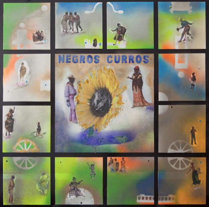 Cuadro Negros Curros, de la exposición Negros de arena y cal del autor Jesús Cosano.