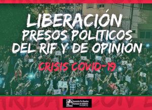 Por Covid 19 exigen liberación de presos políticos marroquíes