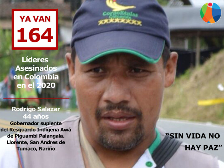 Rodrigo Salazar lider Social asesinado en Colombia