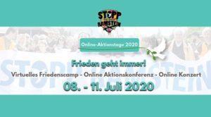 Virtuelles Friedenscamp und Aktionskonferenz