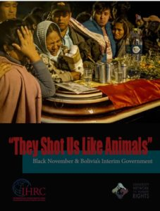 """Harvard denuncia masacres de gobierno de Añez en Bolivia: """"Nos dispararon como si fuéramos animales"""""""