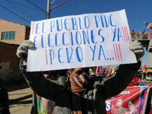 La Bolivia esige le elezioni attraverso una mobilitazione di massa e uno sciopero a tempo indeterminato
