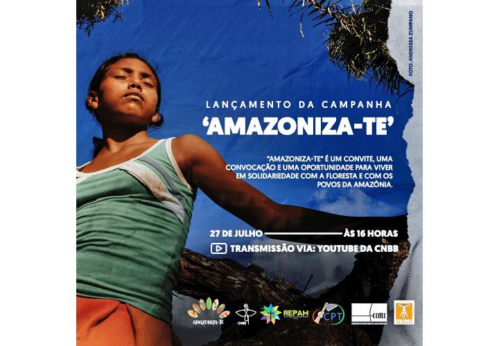 Organizações eclesiais e da sociedade civil lançam campanha de sensibilização e cuidado com a Amazônia