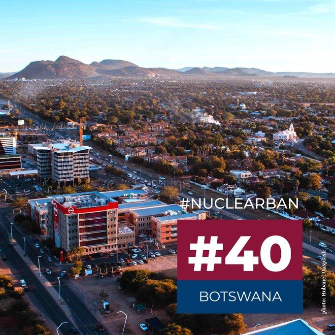 Botswana ratifica el tratado de prohibición de armas nucleares de la ONU: Faltan sólo 10 para la entrada en vigor