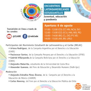 Estudiantes de América Latina y el Caribe discutirán sobre juventud, educación y pandemia