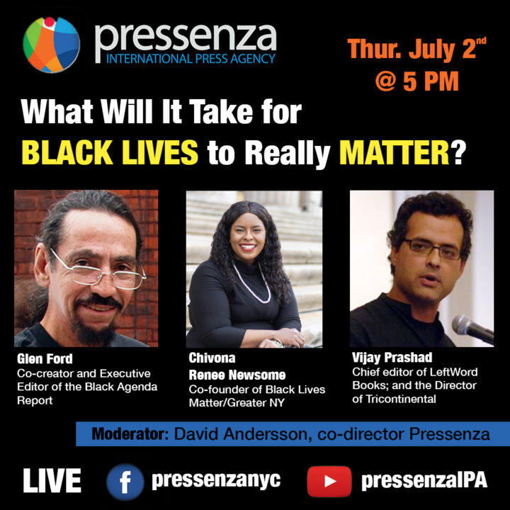 Panel Discussion LIVE 07/02: What Will It Take for Black Lives to Really Matter?