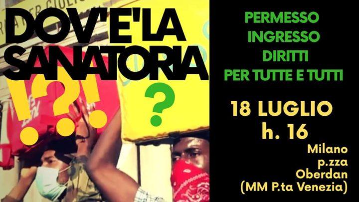 """""""Saniamo la Sanatoria"""". Manifestazione a Milano"""