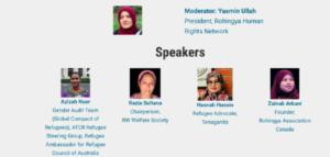 Mujeres rohinyás comparten sus historias y piden mayor protagonismo