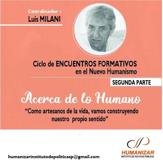 Encuentro Formativo «Acerca de lo humano» – segunda parte