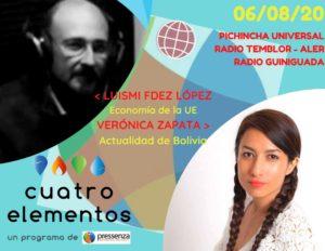 Cuatro Elementos del 06/08/2020 Economía UE y Bolivia