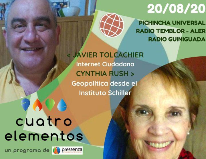 Cuatro Elementos del 20/08/2020 Webinario de Internet Ciudadana y Geopolítica con el Instituto Schiller