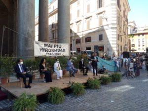 Roma, Pantheon, 75° anniversario di Hiroshima
