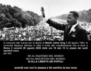 28/8 Roma Manifestazione per dire no all'imperialismo in Africa