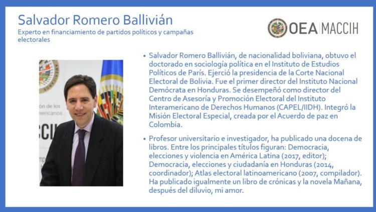 Salvador Romero, sus vínculos con EU y el modelo hondureño