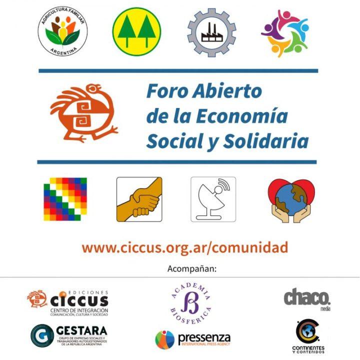 12 de agosto comienza el Foro Abierto de la Economía Social y Solidaria