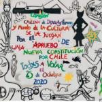 Comisión Chilena de Derechos Humanos, artistas y figuras de la cultura inician campaña impulsando participación en el plebiscito