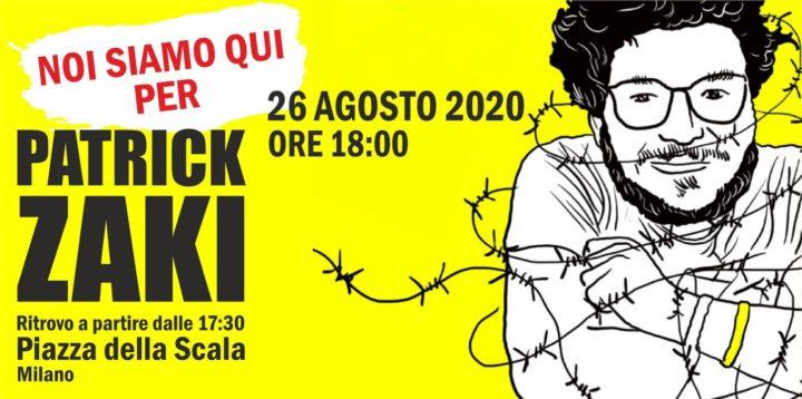 Milano, Flashmob per Patrick Zaki