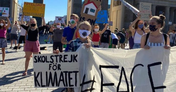"""We're Back"": Greta Thunberg Kicks Off Third Year of Fridays for Future Protests in Germany After Meeting With Merkel"