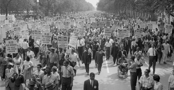 'Get Your Knee Off Our Necks': On 57th Anniversary of Historic Civil Rights Rally, Tens of Thousands March on Washington