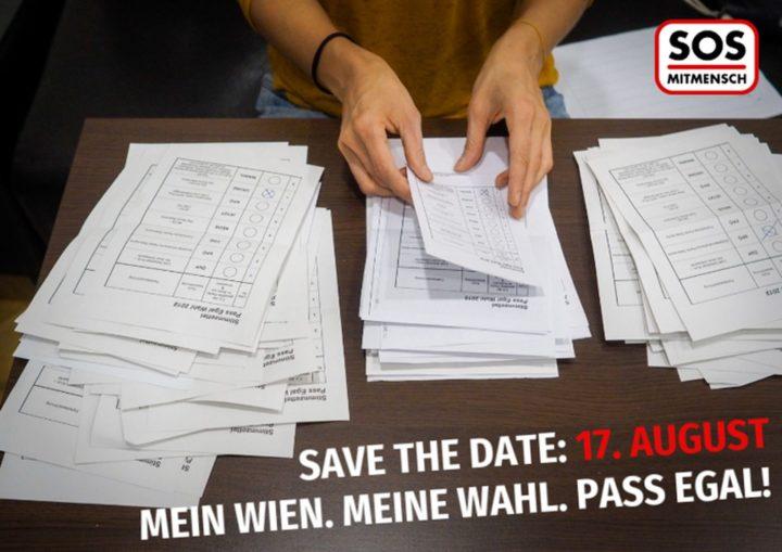 SAVE THE DATE: 17. August – Mein Wien. Meine Wahl. Pass Egal!