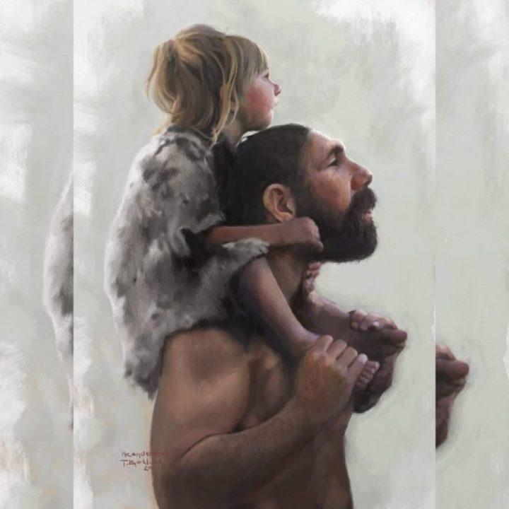 Los perros, un neandertal y su hija, un avión y la luna