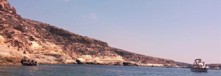 Lampedusa. Frammento da uno sbarco