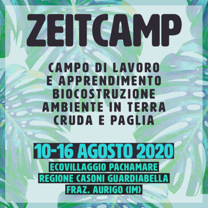 Movimento Zeitgeist: dal 10 lo Zeitcamp in Liguria