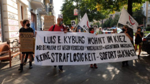 Protest gegen deutsch-argentinischen Ex-Militär Kyburg in Berlin
