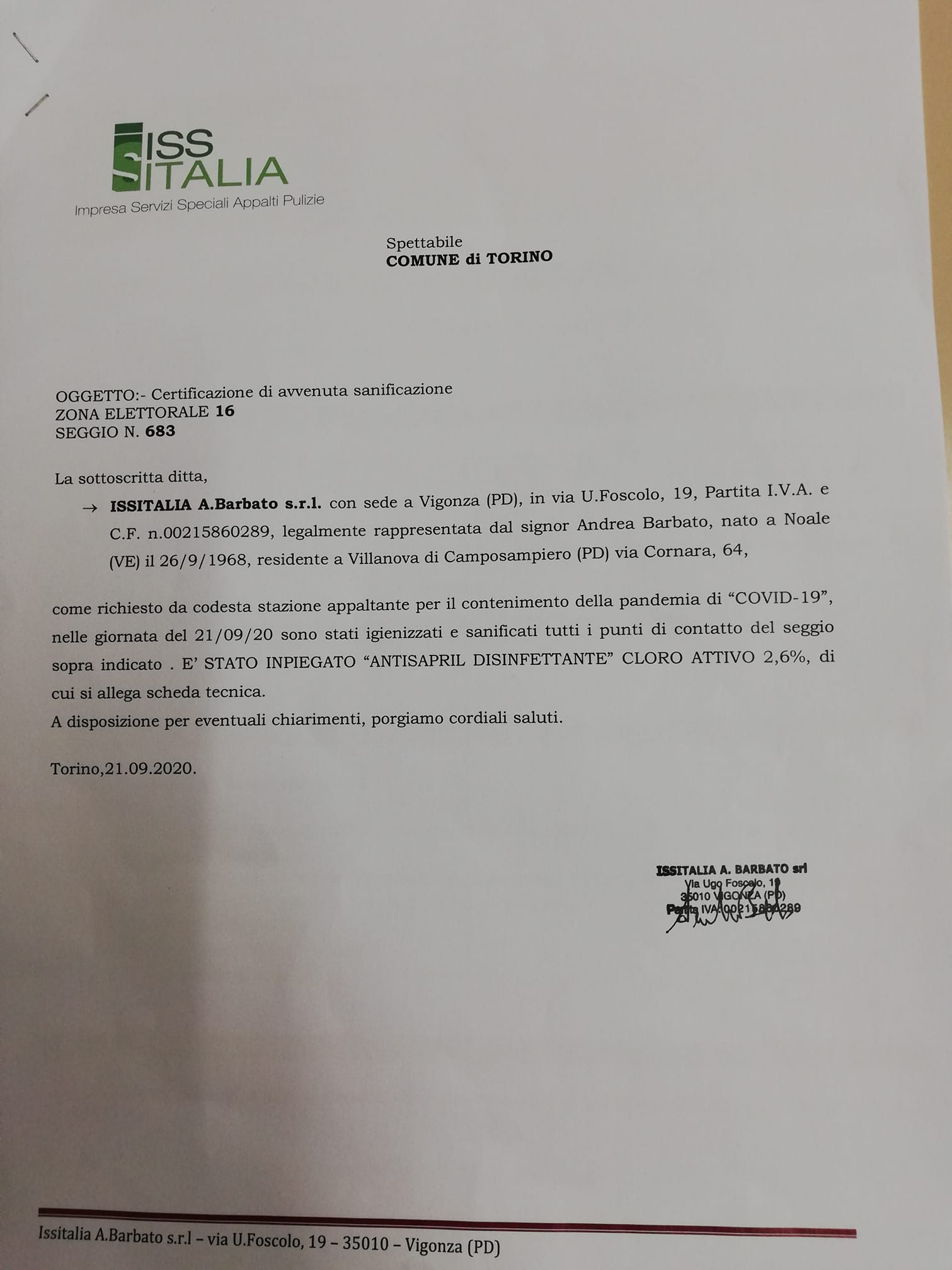 Elezioni Torino, Covid-19