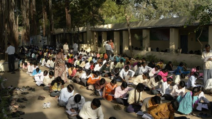 Millions of Indian students sit university entrance exams after government disregards protests to postpone them