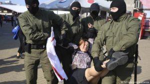 Belarus: Scores of women arrested in anti-Lukashenko protest