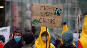 Earth Strike: In the rain for climate protection