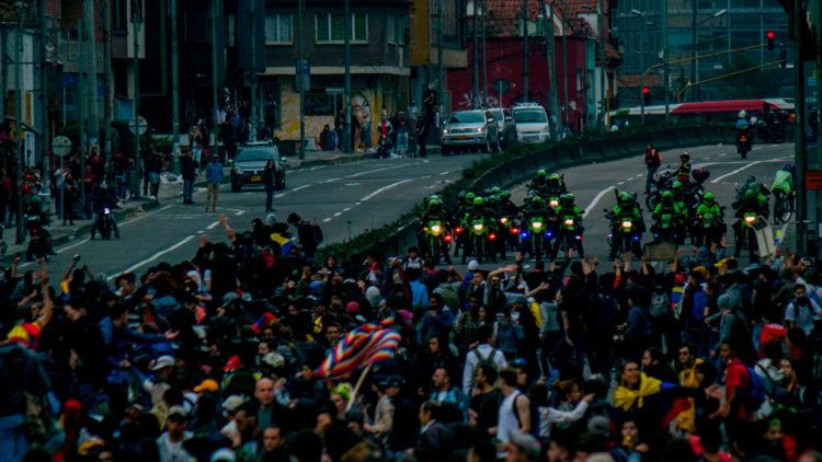Protestas en Bogotá_Derechos solo para esta nota