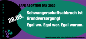 Berlin feiert den internationalen Safe Abortion Day