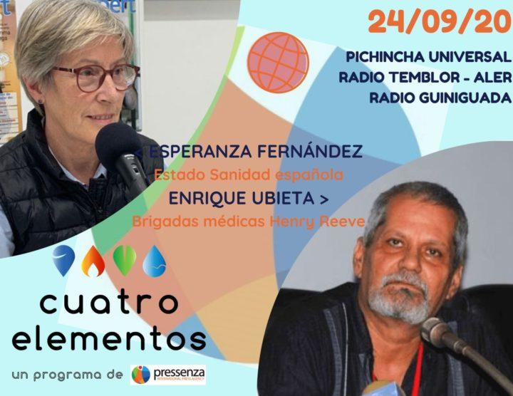 Cuatro Elementos del 24/09/2020 Sanidad en España y la Brigada Henry Reeve