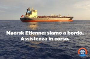 Personale medico sanitario di Mediterranea a bordo della Maersk Etienne
