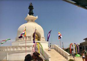Meditazione antinucleare alla Pagoda della Pace a Comiso