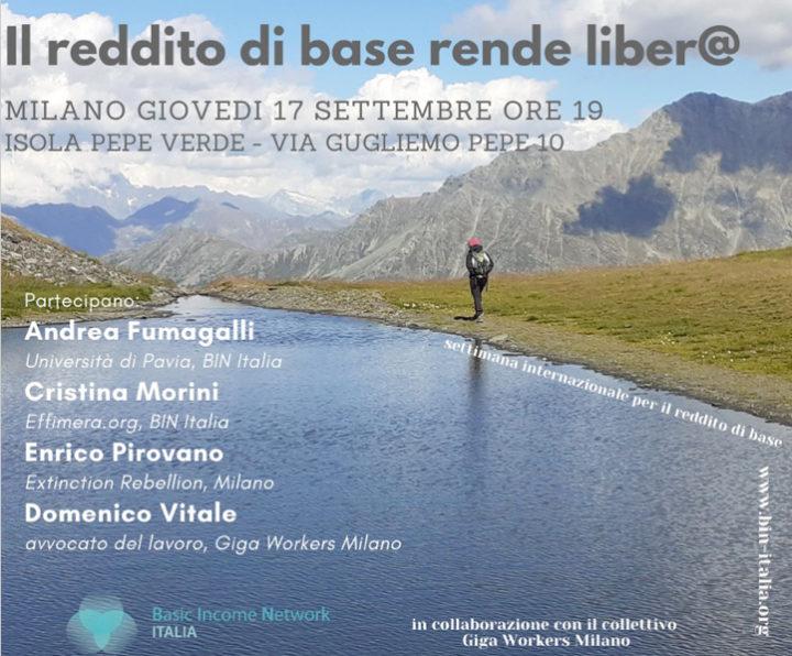 Milano: Il Reddito di Base rende liber@. Settimana internazionale per il reddito di base