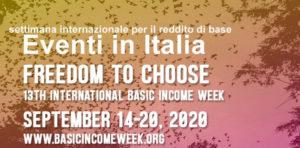 """Settimana Internazionale del Reddito di Base 2020: """"Freedom to choose"""""""