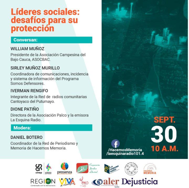 Líderes sociales: desafíos para su protección
